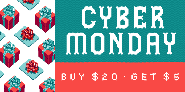 Buy $20 in e-gift cards on Cyber Monday, get a $5 bonus e-gift card!